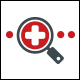 Medical Search Logo Template