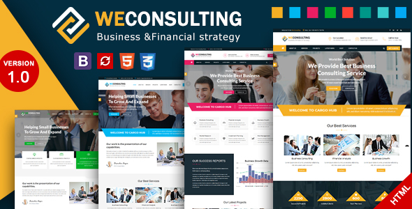 ThemeForest WECONSULTING Financial Business & Consulting HTML Template 21186768