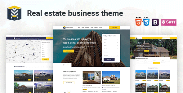 Light - House  Real Estate HTML Template. - Corporate Site Templates
