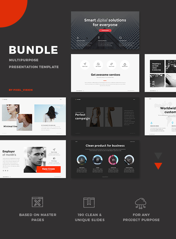Bundle PowerPoint 3 in 1 - PowerPoint Templates Presentation Templates