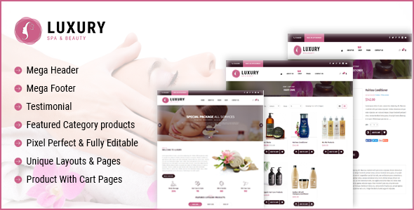 Image of Luxury Spa Beauty OpenCart Theme