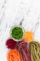 Colored Raw Vegetable Vegetarian Pasta. - PhotoDune Item for Sale
