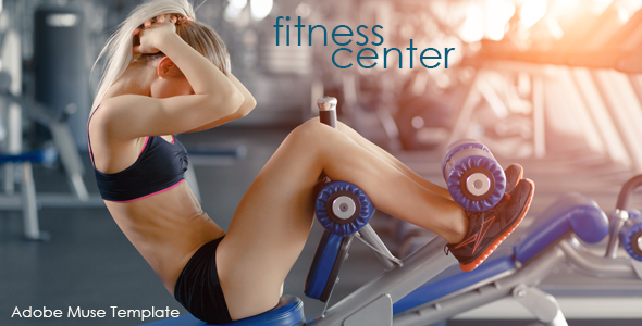 Fitness Center Muse Template - Corporate Muse Templates