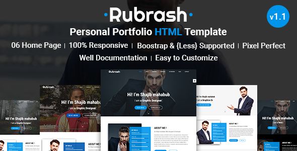 Image of Rubrash - Personal Portfolio HTML Template