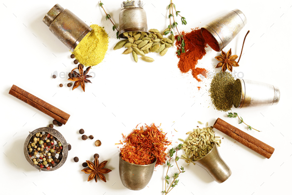 Various Spices  - Stock Photo - Images