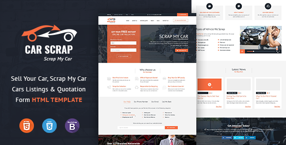 Image of Car Scrap Service HTML Template