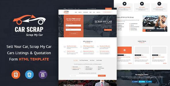 Car Scrap Service HTML Template - Business Corporate