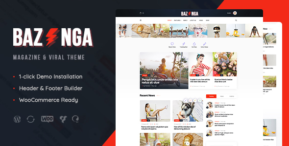 ThemeForest Bazinga Magazine & Viral Blog WordPress Theme 21252783