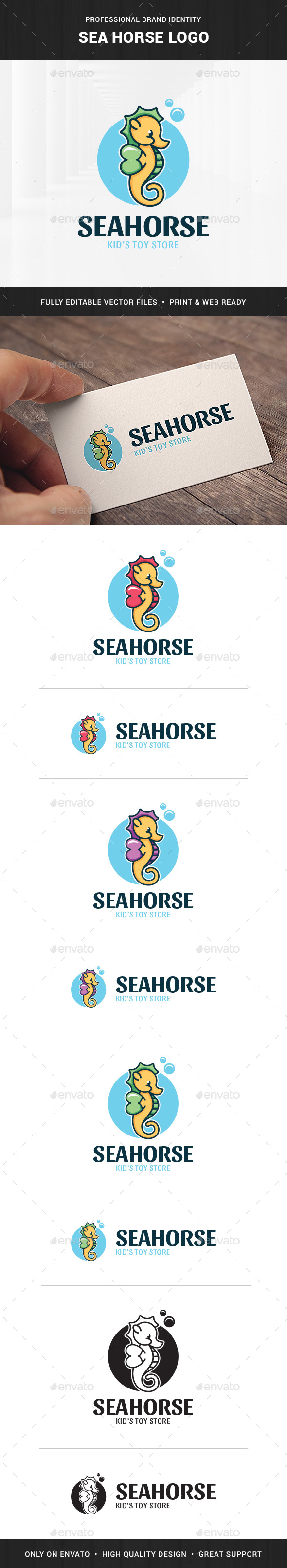 Seahorse Logo Template - Animals Logo Templates