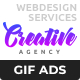 Creative Agency - Web Design Services Animated GIF Banner Ad Templates - GraphicRiver Item for Sale