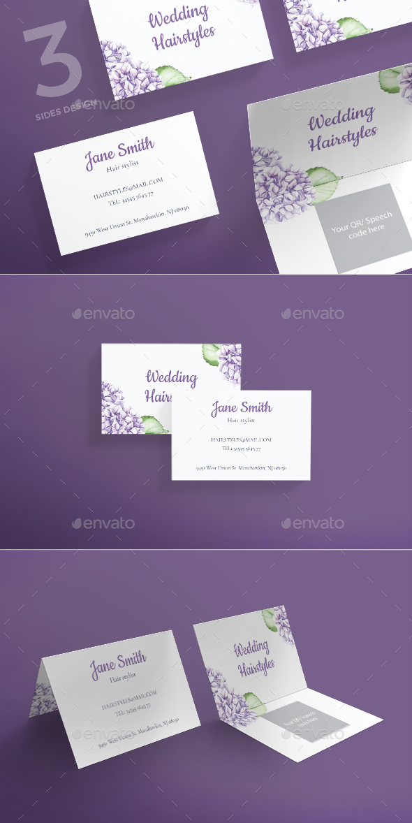Wedding Hairstyles Business Card - Creative Business Cards
