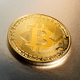 Single Bitcoin cryptocurrency on a gradient - PhotoDune Item for Sale
