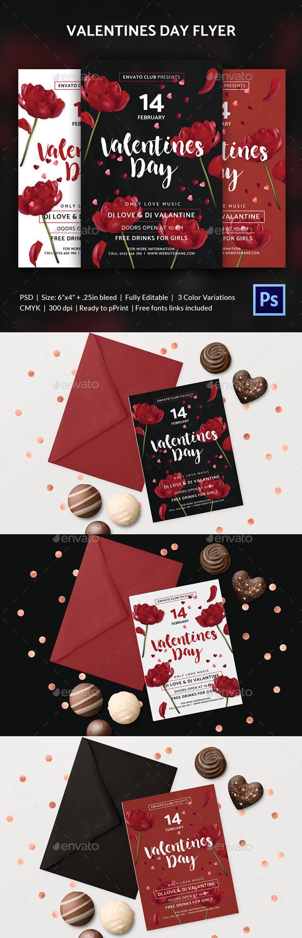 Valentines Day Flyer - Print Templates