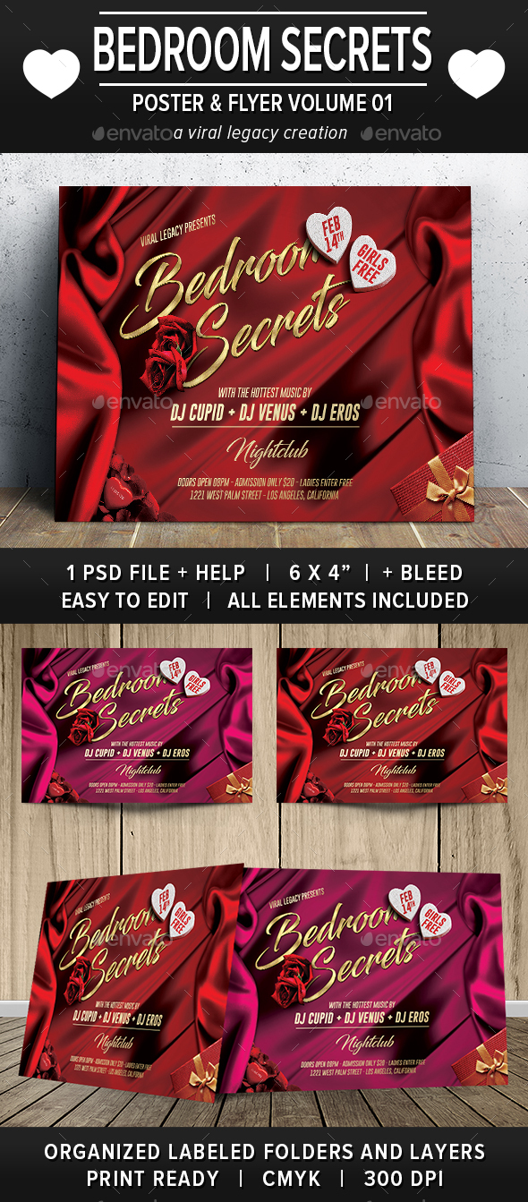 Bedroom Secrets Flyer V01 - Events Flyers