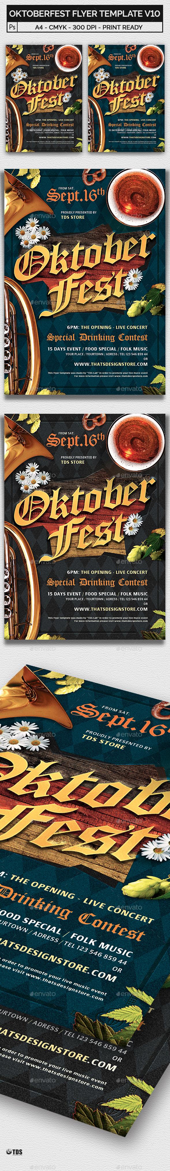 Oktoberfest Flyer Template V10 - Holidays Events