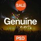 Geinuine - Conference and Event PSD Landing Page - ThemeForest Item for Sale