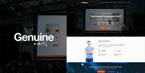 ThemeForest Geinuine Conference and Event PSD Landing Page 21188385