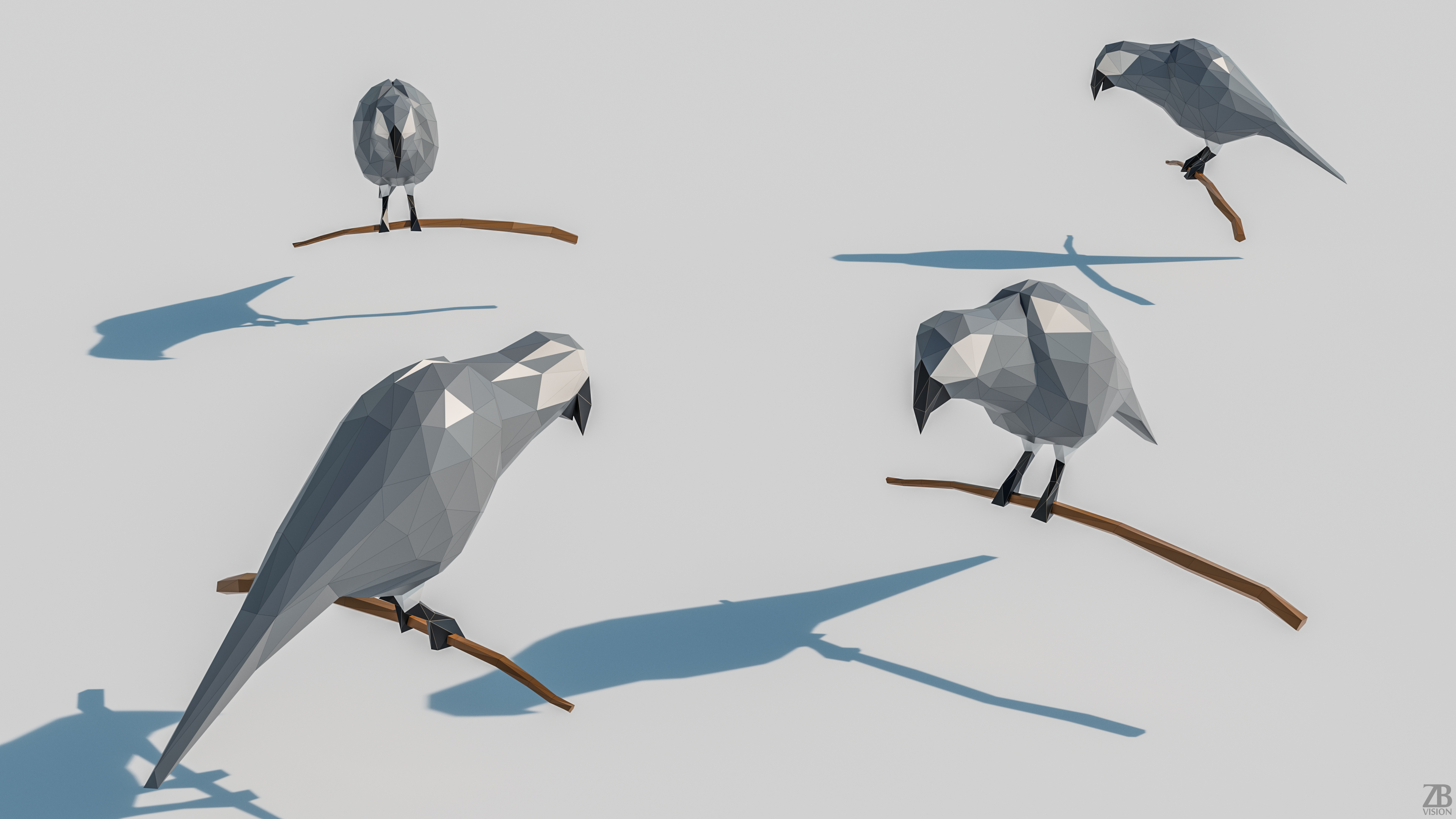 Lowpoly Parrot 001