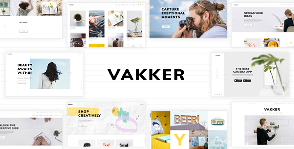 Vakker - A Creative Theme for Designers and Agencies