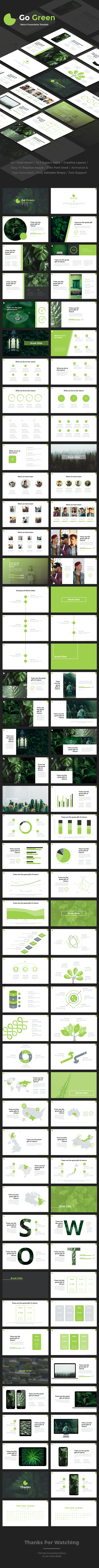 Go Green Powerpoint - Nature PowerPoint Templates