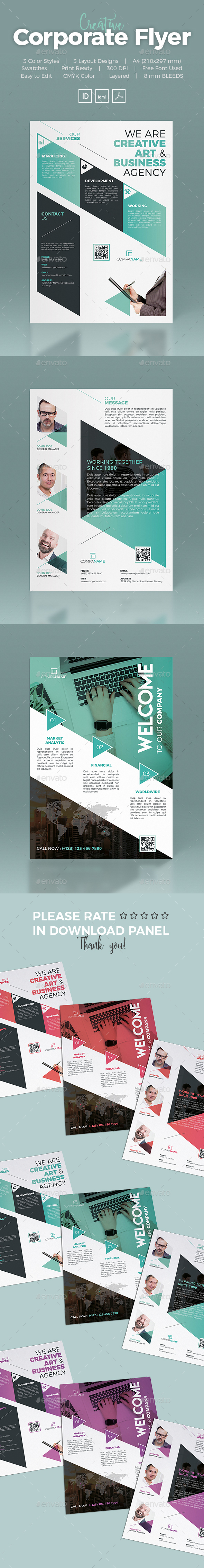 Corporate Flyer 3 layout - Corporate Flyers