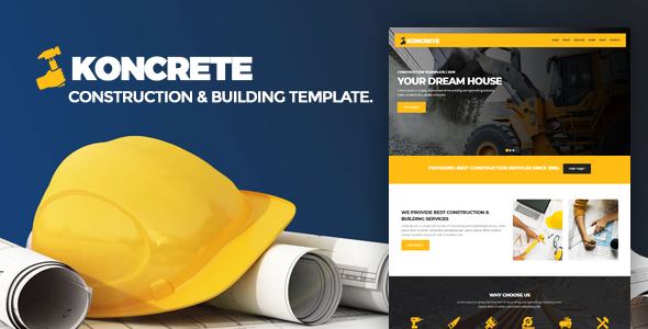 Image of KONCRETE - Construction and Building HTML Template