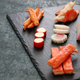 variety of surimi products, imitation crab sticks, japanese food - PhotoDune Item for Sale