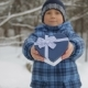 Gift Box in the Form of a Heart in the Hands of a Child - VideoHive Item for Sale