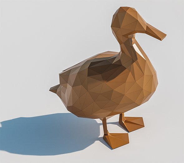 Lowpoly Duck 001 - 3DOcean Item for Sale