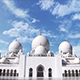 Abu Dhabi Mosque Against The Blue Sky - VideoHive Item for Sale