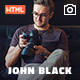 Photography Fullscreen Website Template - JohnBlack Photography