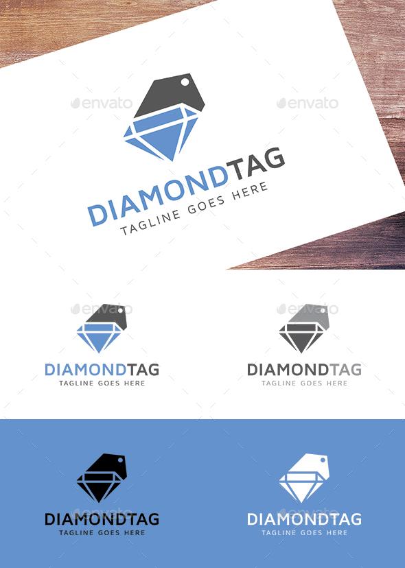 Diamond Tag - Objects Logo Templates