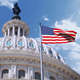 United States Capitol Dome And National Flag Waving In The Wind - VideoHive Item for Sale