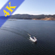 Couple on Boat Aerial View - VideoHive Item for Sale