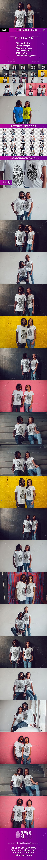 T-Shirt Mock-Up 2018 #1 - T-shirts Apparel