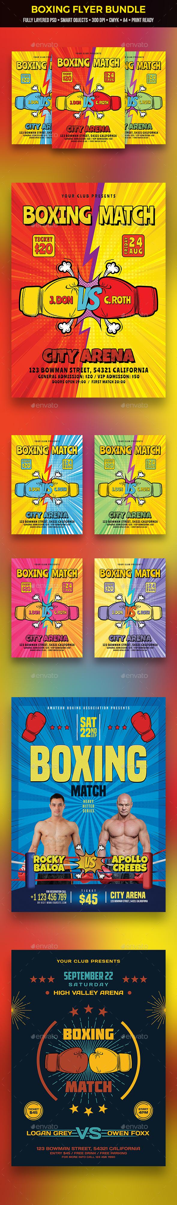 Boxing Flyer Bundle - Sports Events