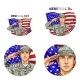 Vector Us Flag Salute Soldier Pop Art Avatar Icon - GraphicRiver Item for Sale