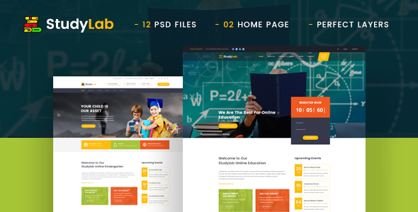StudyLab - Kid & Online Education PSD Template