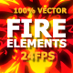 Hand Drawn FIRE Elements 24 fps - VideoHive Item for Sale