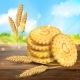 Vector Realistic Wheat Cookies Packaging Ad