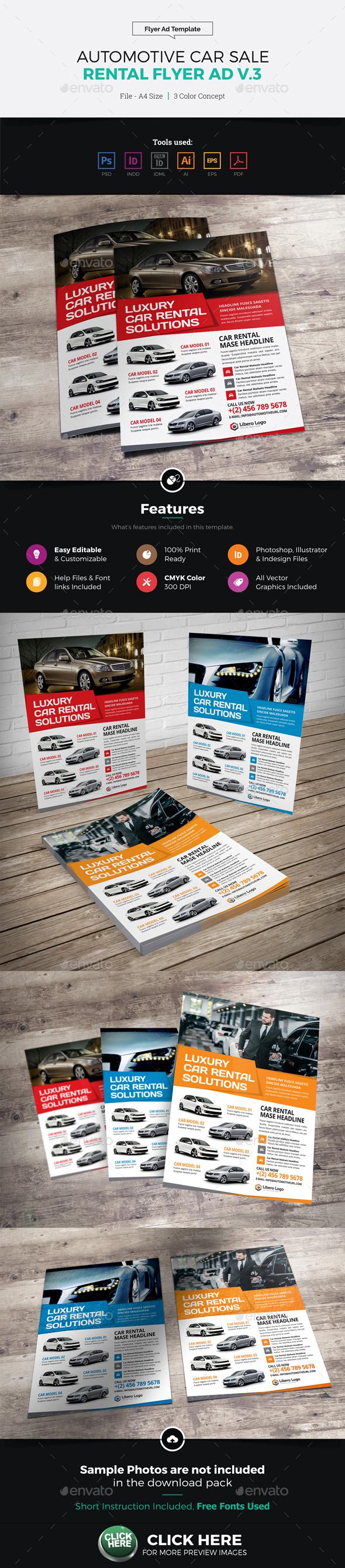 Automotive Car Sale Rental Flyer Ad v3 - Corporate Flyers