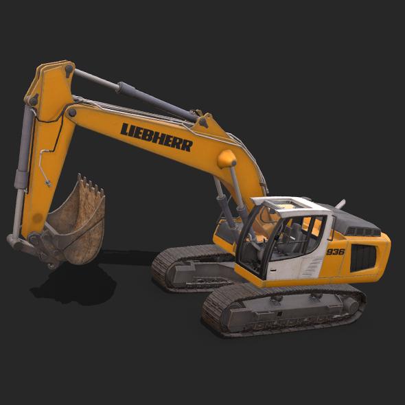 Liebherr Excavator 936 - 3DOcean Item for Sale