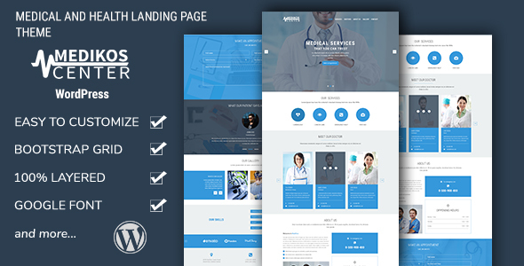 ThemeForest MediKos Center Medical and Health WordPress Landing Theme 19389806