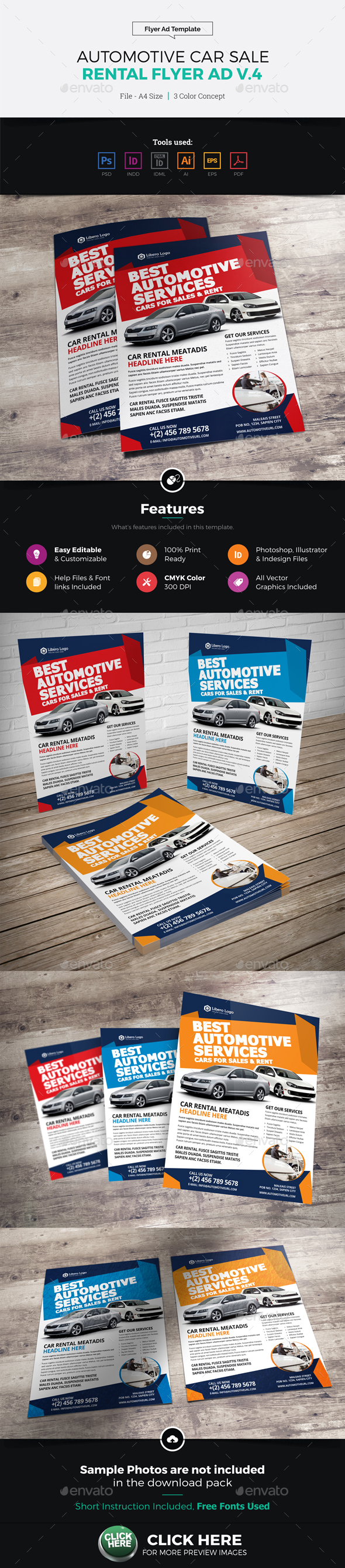 Automotive Car Sale Rental Flyer Ad v4 - Corporate Flyers
