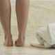 Young Fit Girl Throws Her Bathrobe On The Ground Ready For Bath - VideoHive Item for Sale