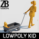 Lowpoly Kid 014 - 3DOcean Item for Sale