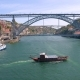 Portugal Porto Aerial Video City Centre Bridges Boat Ship Yacht - VideoHive Item for Sale