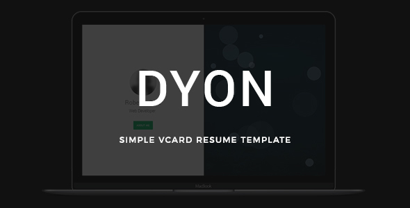 DYON - Simple vCard Resume Template - Virtual Business Card Personal