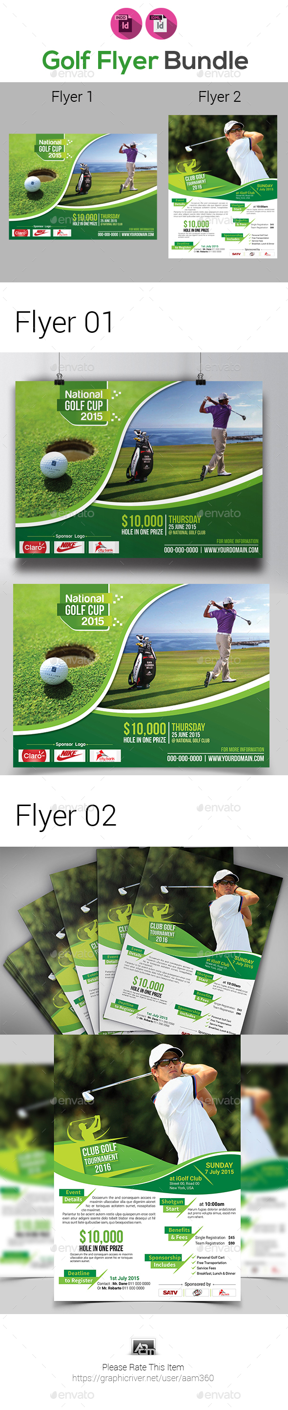 Golf Tournament Flyer Bundle - Sports Events