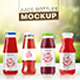 4 Colourable Juice Bottle Mockup - GraphicRiver Item for Sale